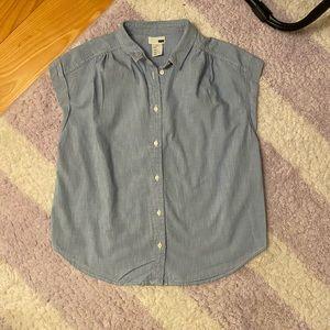 Levi's Flutter Shirt Sleeve Denim Button Down